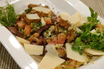 Paillard vom Rind mit Parmesan
