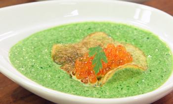 Basilikumcreme mit Kaviar