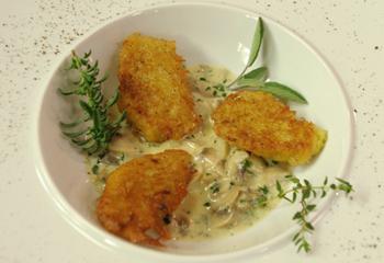 Kartoffelnocken mit Champignons