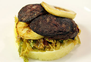 Black Pudding with Colcannon