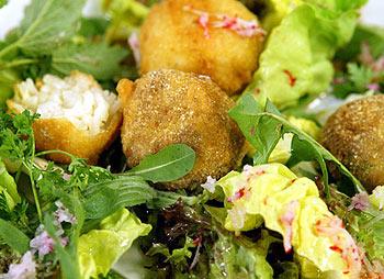 Lamm- und Reisbällchen mit Radieschen-Kräutersalat