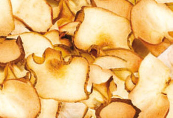 Apfel- und Birnenchips