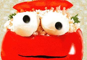 Verrückte Glubschaugen-Tomaten