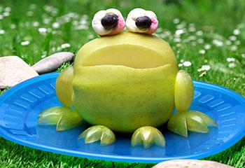 Apfelfrosch im Seerosenteich