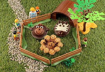 Tierischer Cupcake-Zoo