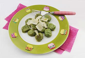 Bärlauch-Gnocchi mit Parmesan