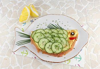 Lachs-Omelett