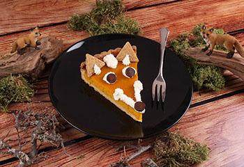 Kürbiskuchen-Fuchs mit Schlagobers