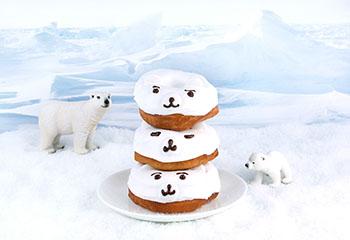 Eisbär-Donuts mit Zuckerguss