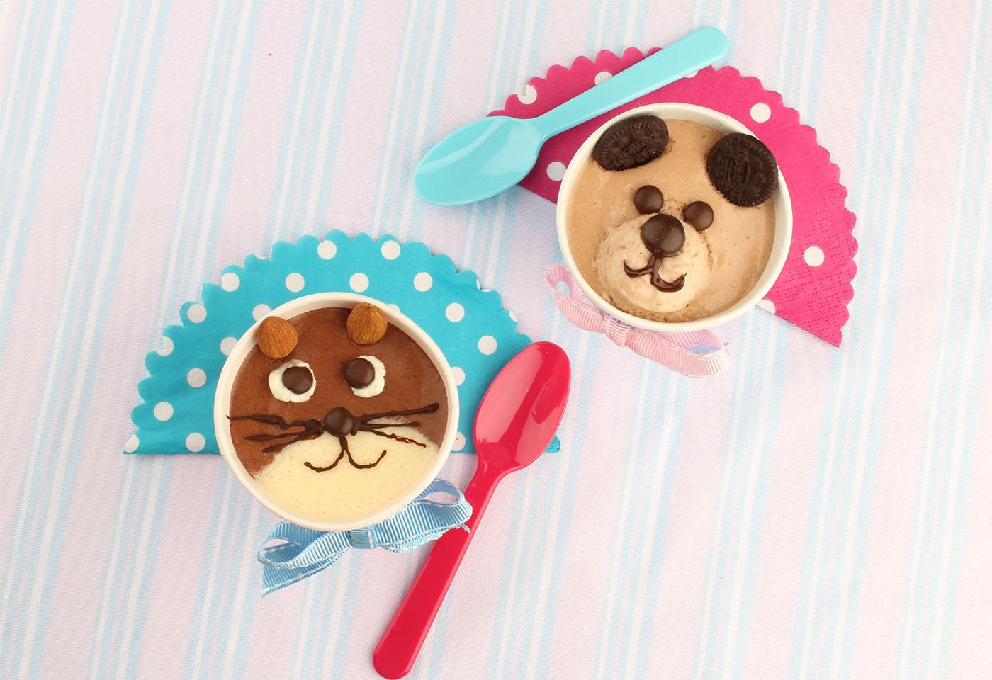 Süße Dessert Tiere - Katze und Hund aus cremiger Mousse | Frisch ...