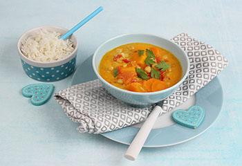 Kürbis-Curry mit Basmatireis