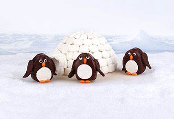 Schokokuchen-Pinguine