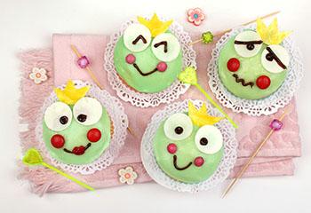 Froschkönigmuffins mit Zuckerguss