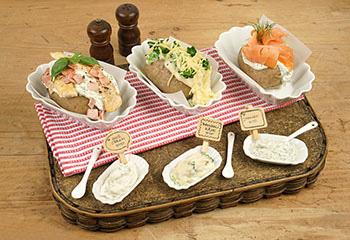 Brokkoli-Käse-Dip und Joghurt-Lachs-Dip