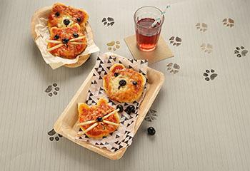 Lustige Pizza-Tiere