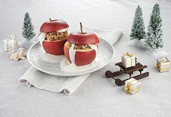 Ja! Natürlich Bio-Maroni-Bratäpfel mit Vanillejoghurt