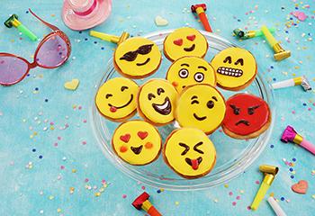 Lustige Emoji-Taler