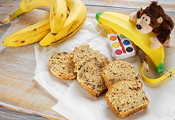 Bananenbrot mit Schokostreusel