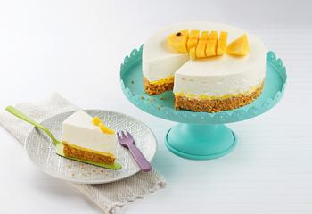 Topfen-Torte mit Mango