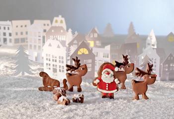 Lebkuchen-Santas Rentiere