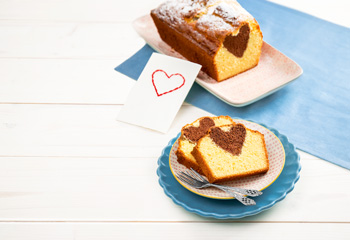 Muttertags-Herz-Kuchen