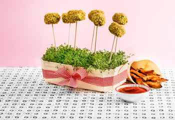 Brokkoli-Nuggets mit Süßkartoffel-Pommes