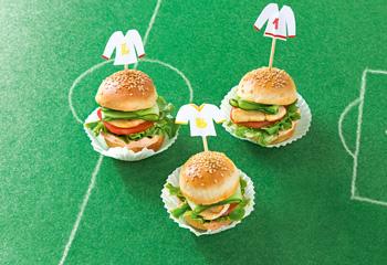 Mini-Burger mit Hühnerfleisch