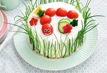 Sommerliche Bio-Sandwich-Torte