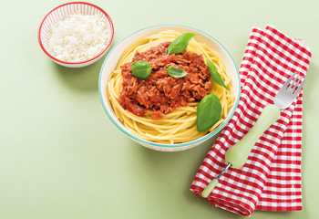 Herzhafte Bio-Spaghetti-Bolognese