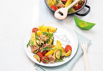 Thunfisch-Erdäpfel-Pfanne