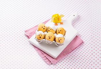Eier-Küchlein aus der Schale