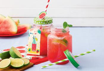 Wassermelonen-Erdbeer-Limonade