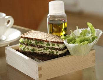Pumpernickel-Kresseschnitte mit 2 Minuten Salat