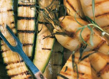 Gegrillte Zucchini mit Kräutern