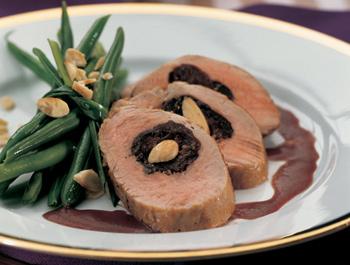 Gefüllte Schweinefilets mit Portweinsauce