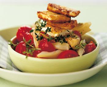 Fenchelgemüse mit Feta und Kirschtomaten