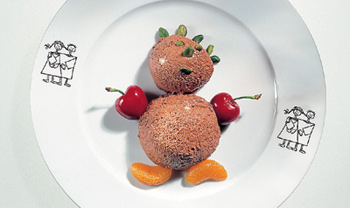 Schokoladenmousse-Teddy