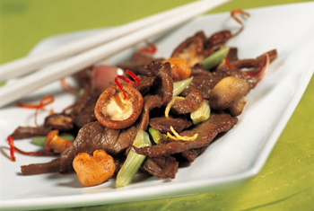 Rindfleisch mit Pilzen