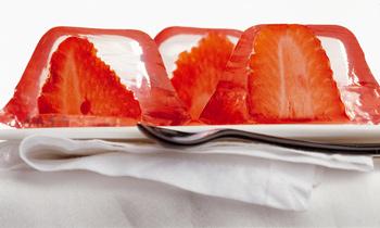 Erdbeeren in Vanillegelee