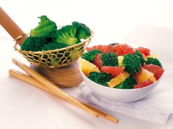 Grapefruit-Broccoli-Gemüse