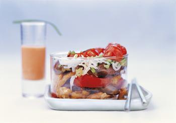 Tofu-Lasagne mit Kokos-Tomatensauce