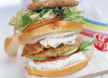 Veggie-Doppeldecker Burger