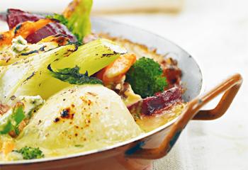 Gemüseauflauf mit Gorgonzola