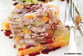 Rindfleischsulz mit Vogerlsalat