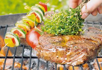 Roastbeef mit Gemüsespieß