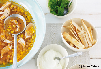 Spicy Chicken Tortillia Soup
