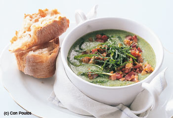 Brokkoli-Speck-Suppe