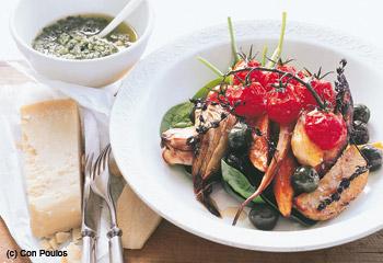 Gerösteter Gemüse-Pesto-Salat