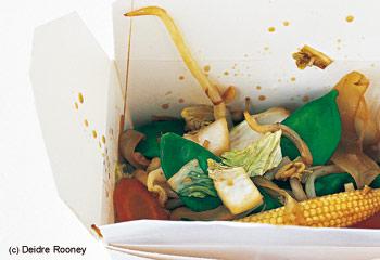 Gebratenes Gemüse aus dem Wok