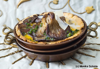 Quiches mit Austernpilzen